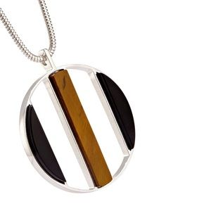 new ❃ Jenny Bird ❃ Long Tiger Eye Pendant Necklace